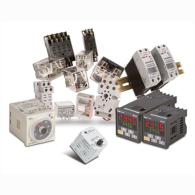 Relays, Relay Switches, Timer Relays, Motor Control Relays, Counters, Digital Tachometers