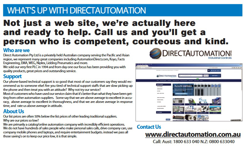 Direct Automation - Contact us for Tech Support