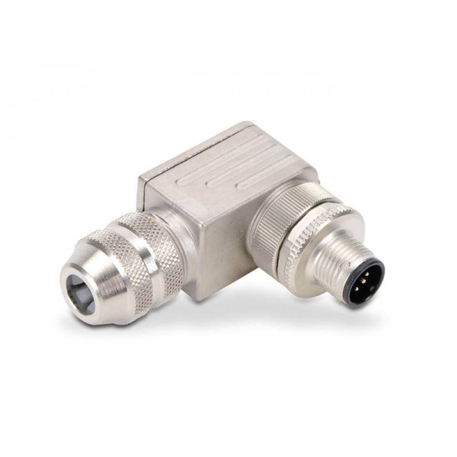 M12 90 deg male 5 pole 6-8mm
