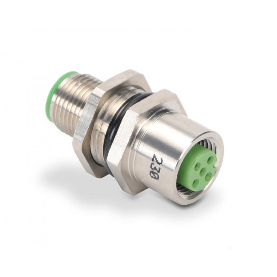 M12 bulkhead receptacle,5 pol