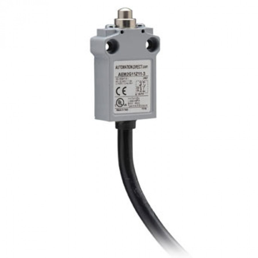 Limit switch, metal plunger