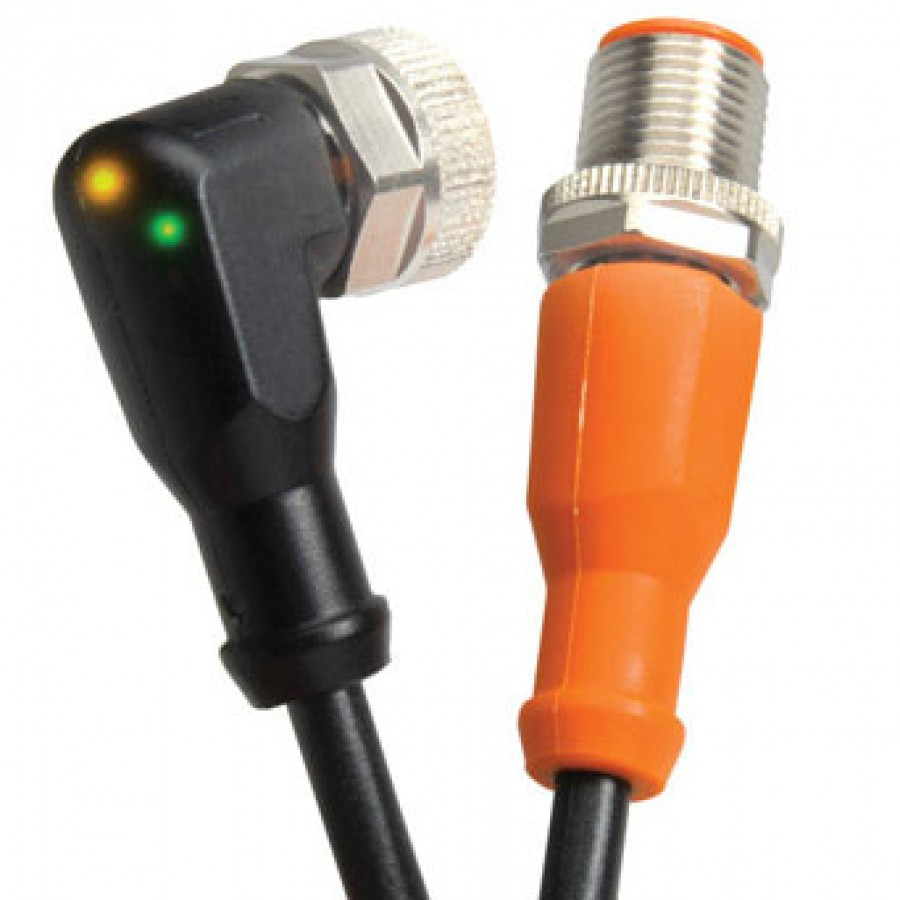 M12 P/Cable PNP LED R/A 1mt