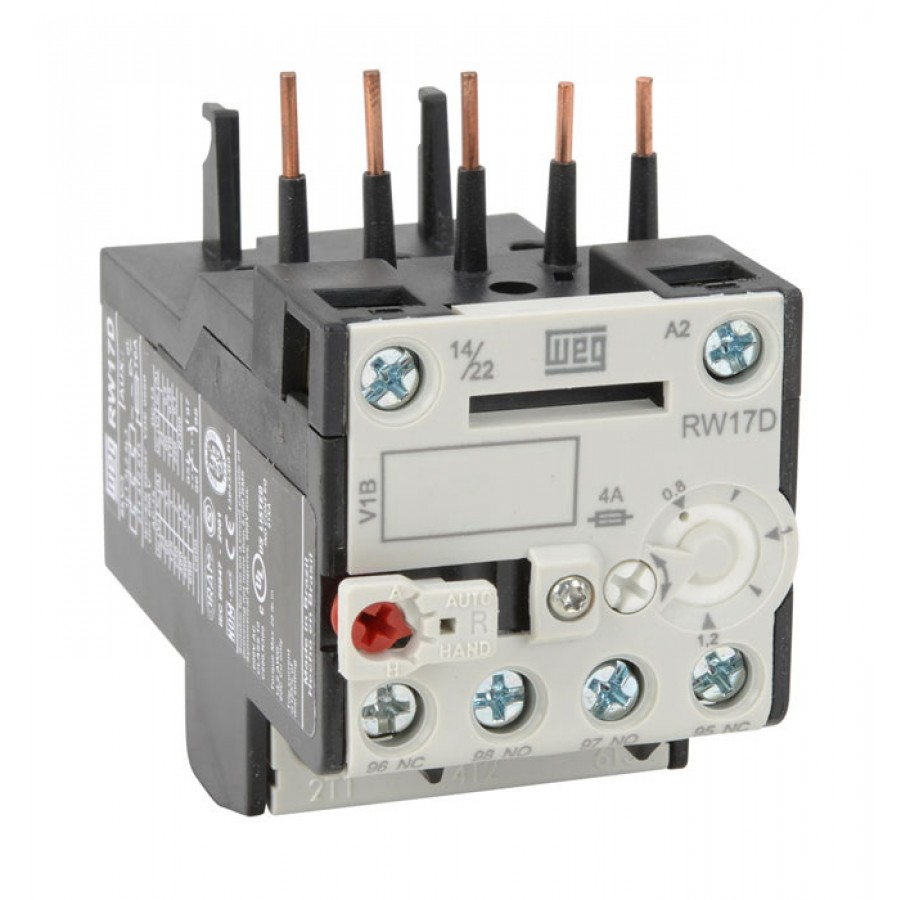Overload relay 0 8 1 2a rw standard overload relays for Weg motors technical support