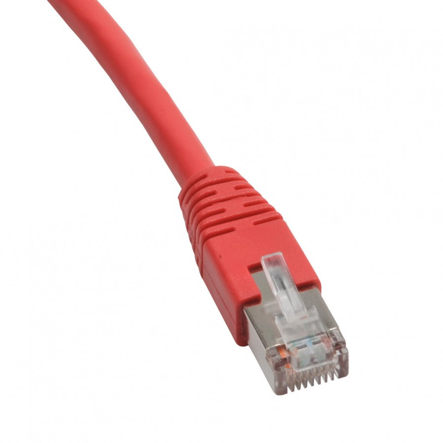 Ethernet Patch Cbl 25ft Red