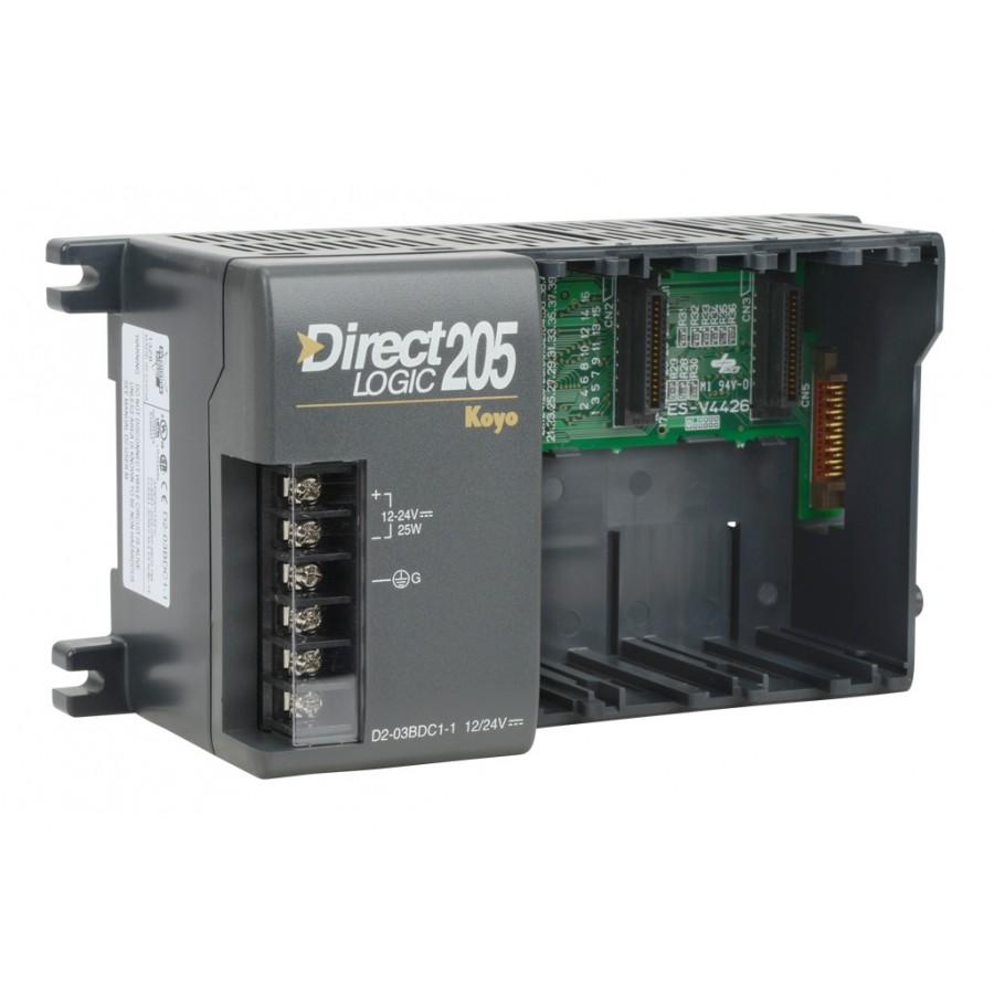 3 Slot 205 Base 12/24 Vdc