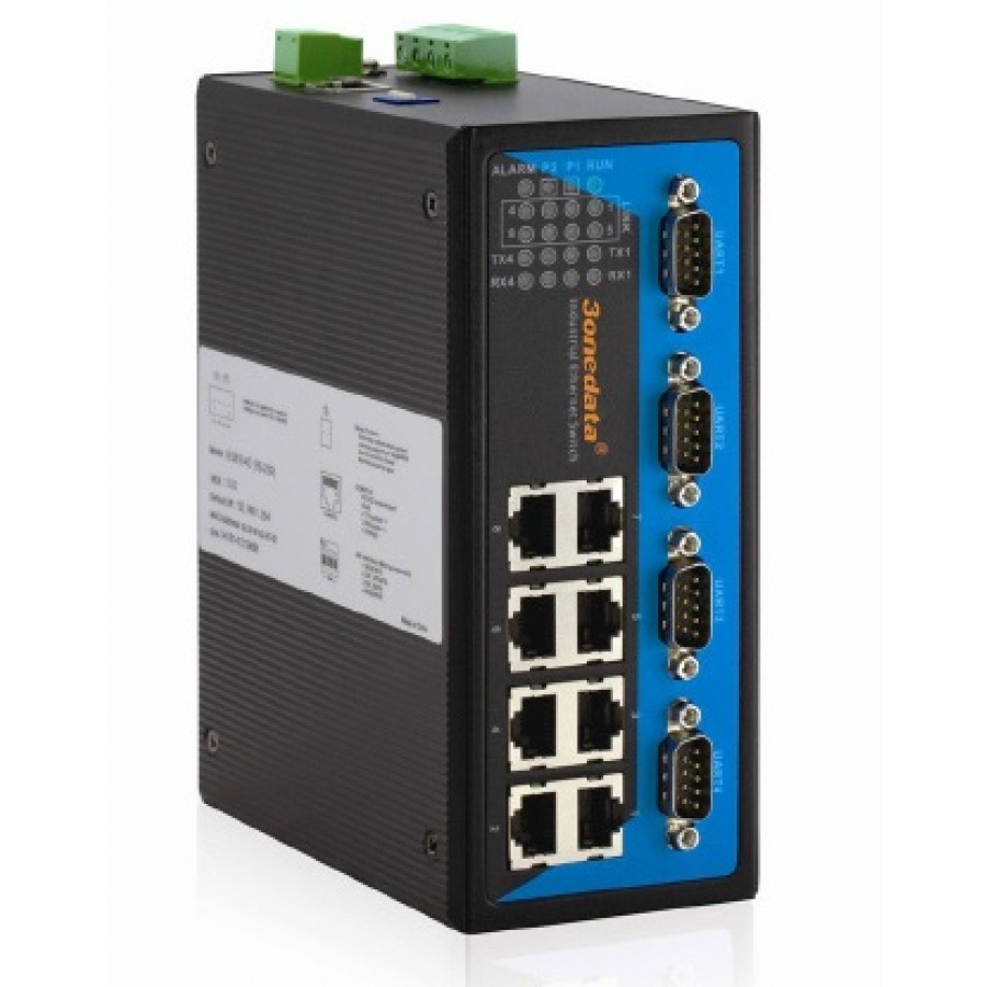 Web managed, 8 ports 10/100Base-T(X), DC12-36V